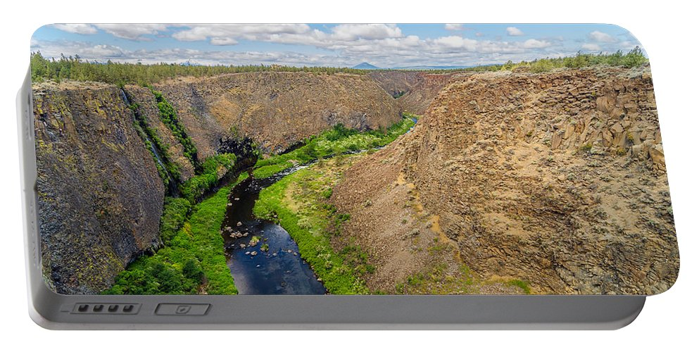 Rocks Portable Battery Charger featuring the photograph Crooked River Canyon by Jess Kraft