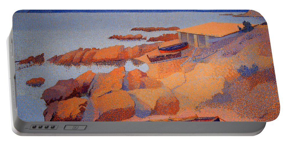 Coast Near Antibes Portable Battery Charger featuring the photograph Cross' Coast Near Antibes by Cora Wandel