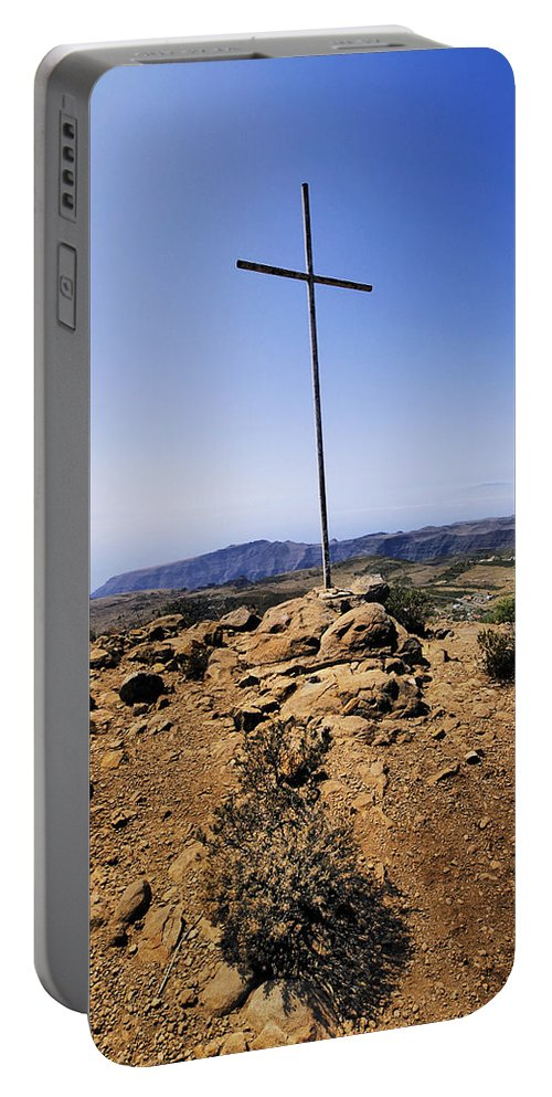 Cross Portable Battery Charger featuring the photograph Cross by Karol Kozlowski
