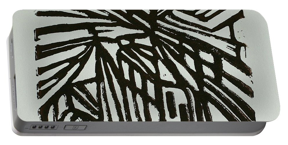 Cross Way Portable Battery Charger featuring the painting Cross Way I by Christiane Schulze Art And Photography