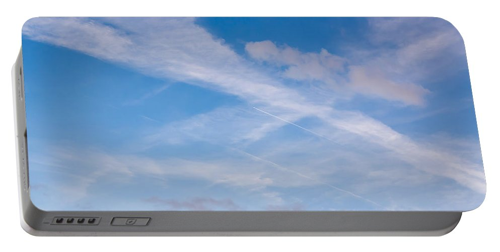 Plane Portable Battery Charger featuring the photograph Crossroad In The Sky by Michal Boubin