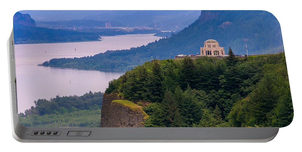 Crown Point In Columbia River Gorge Portable Battery Charger featuring the photograph Crown Point 3 by Mike Penney