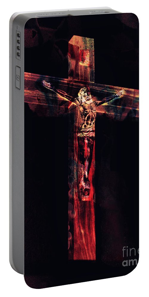 Crucifixion Portable Battery Charger featuring the photograph Crucifixion by Davy Cheng