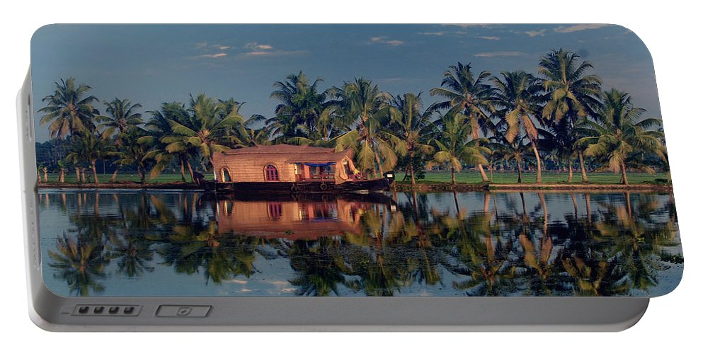 Kettuvallam Portable Battery Charger featuring the photograph Cruising The Backwaters.. by A Rey