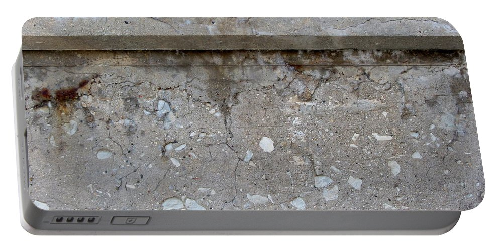 Concrete Portable Battery Charger featuring the photograph Crumbling Wall 1 by Anita Burgermeister