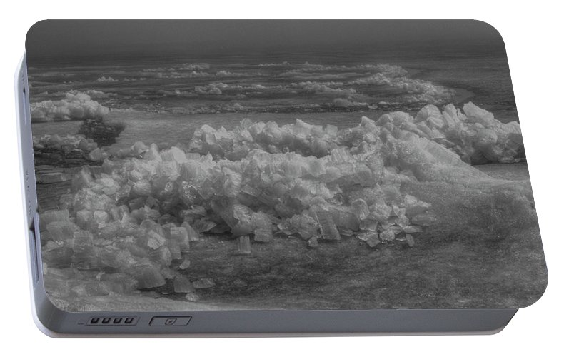 Ice Heave Portable Battery Charger featuring the photograph Crushed Ice 2 by Thomas Young