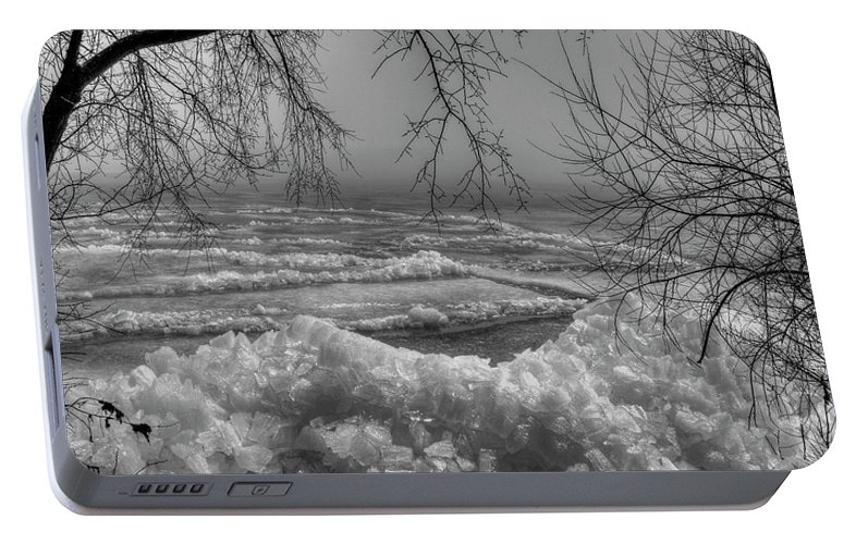 Ice Heave Portable Battery Charger featuring the photograph Crushed Ice by Thomas Young
