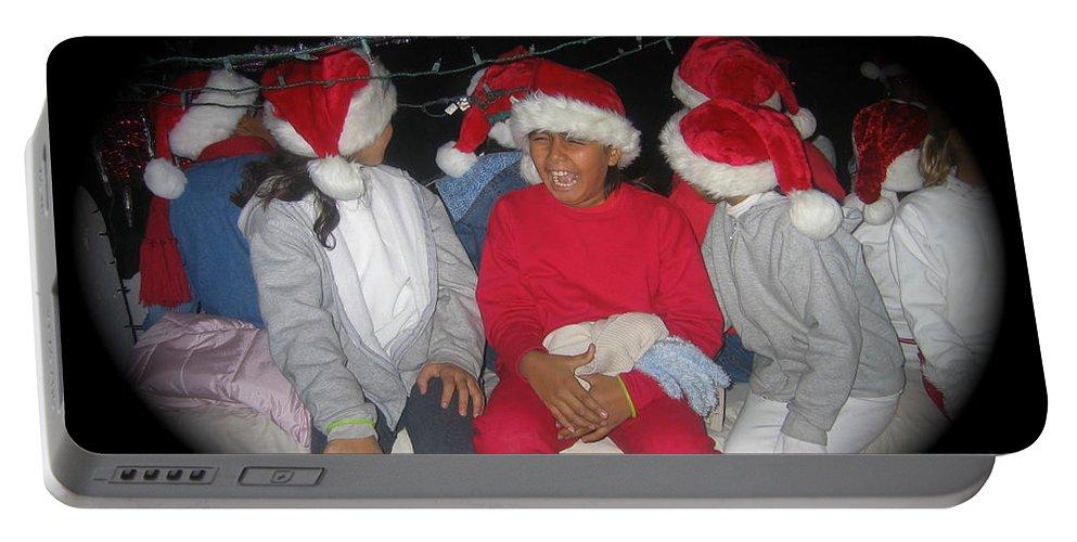 Crying Junior Santa Christmas Parade Eloy Arizona 2005 Portable Battery Charger featuring the photograph Crying Junior Santa Christmas Parade Eloy Arizona 2005-2013 by David Lee Guss
