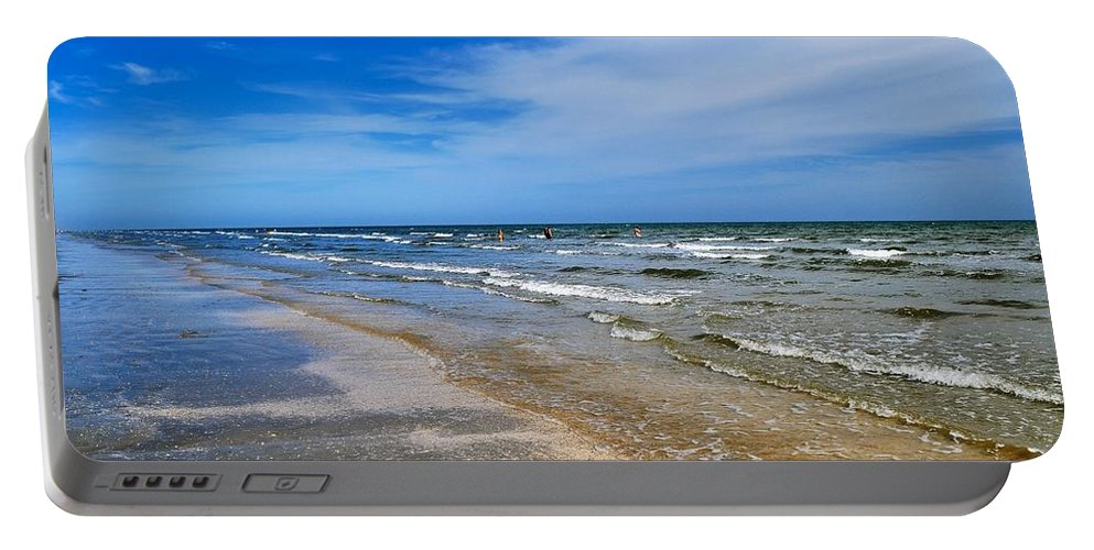 Boliver Island Portable Battery Charger featuring the photograph Crystal Beach by Kristina Deane