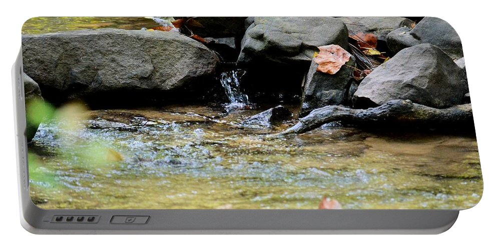 Crystal Clear Waters Of Hurricane Branch Portable Battery Charger featuring the photograph Crystal Clear Waters Of Hurricane Branch by Maria Urso