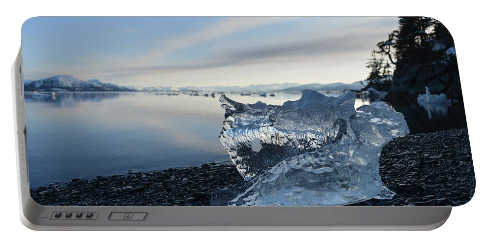 Ice Portable Battery Charger featuring the photograph Crystal Entity by Ted Raynor