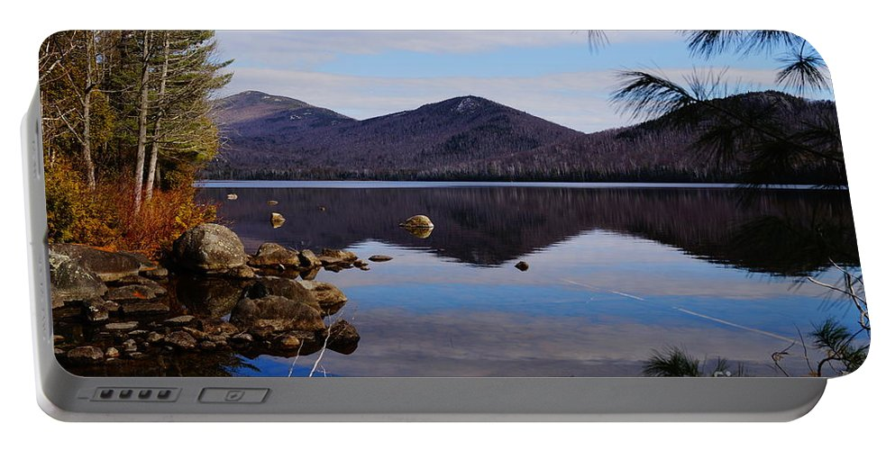 Lake Reflection Of Mountains Portable Battery Charger featuring the photograph Crystal Lake by Jeffery L Bowers