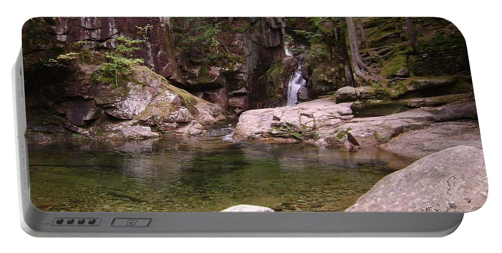 Waterfall Portable Battery Charger featuring the photograph Crystal Waters by Mike Niday