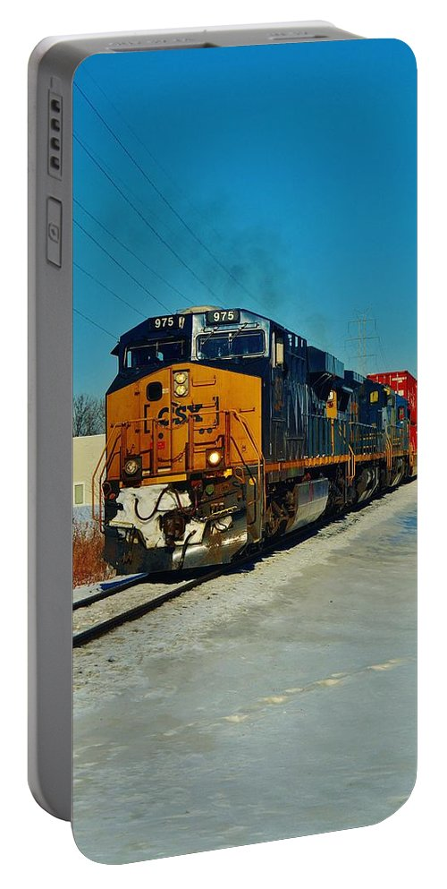 Portable Battery Charger featuring the photograph Csx 975  2.13.14...1500 by Daniel Thompson