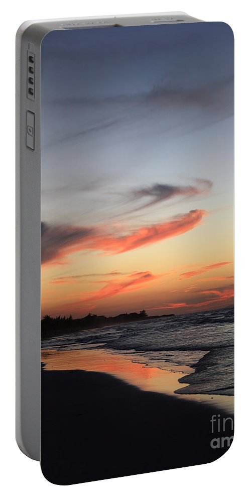 Atlantic Ocean Portable Battery Charger featuring the photograph Cuban Sunset by Deborah Benbrook