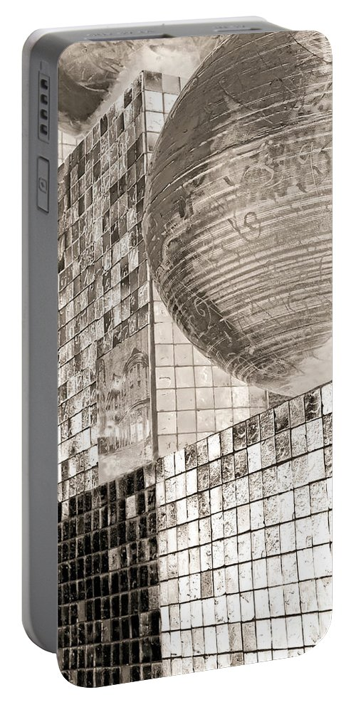 Armstrong Portable Battery Charger featuring the photograph Cubes And Balls by Kathleen K Parker
