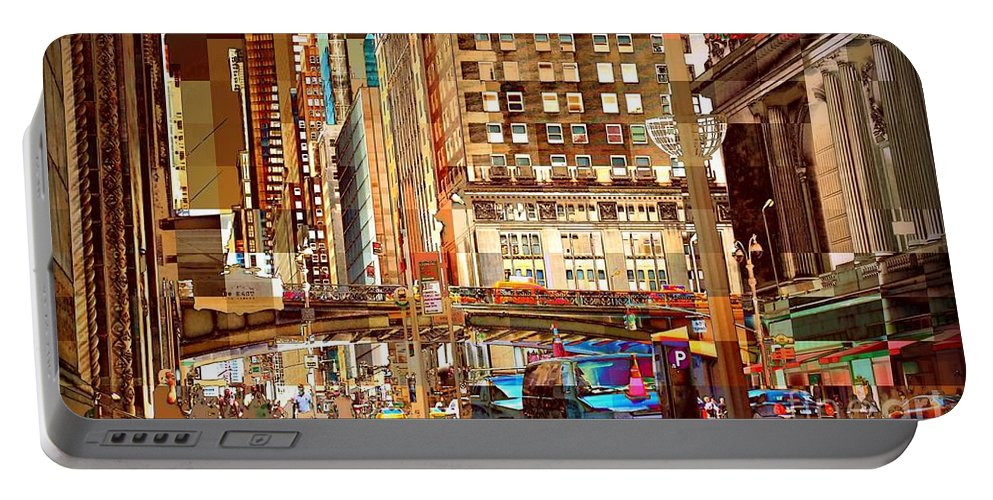 East 42nd Street Portable Battery Charger featuring the photograph Grand Central And 42nd St by Miriam Danar