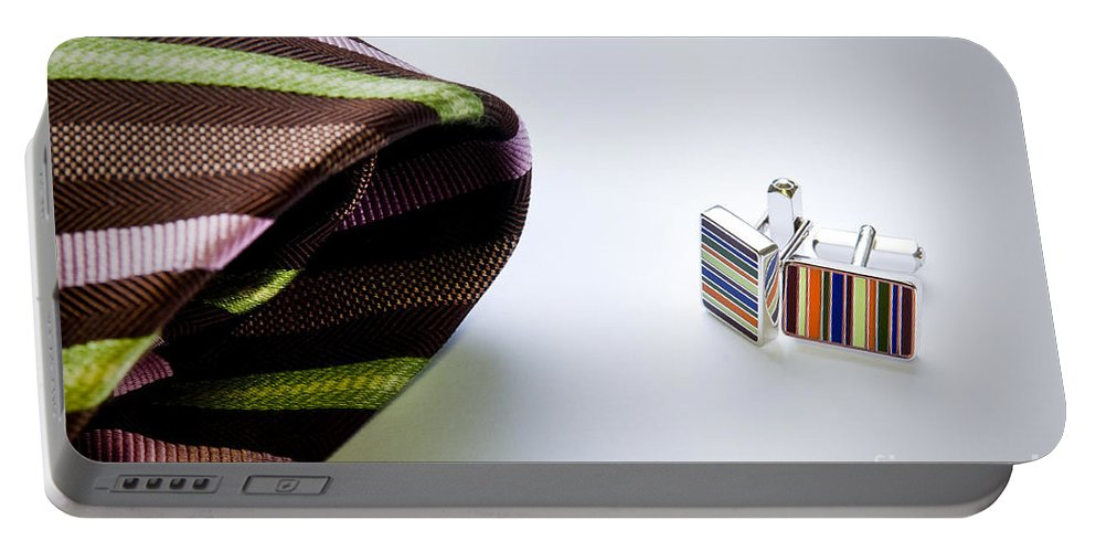 Apparel Portable Battery Charger featuring the photograph Cuff Links by Tim Hester