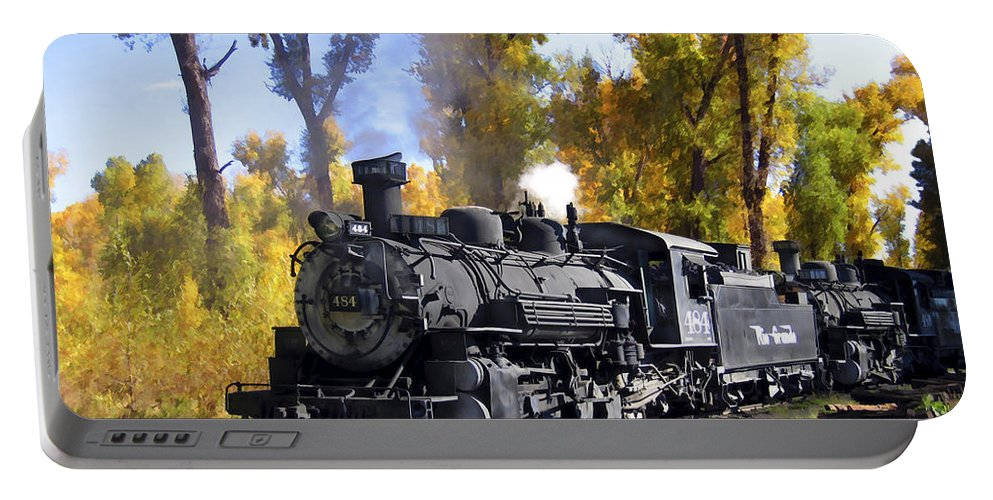 Train Portable Battery Charger featuring the photograph Cumbres And Toltec Railroad by Kurt Van Wagner