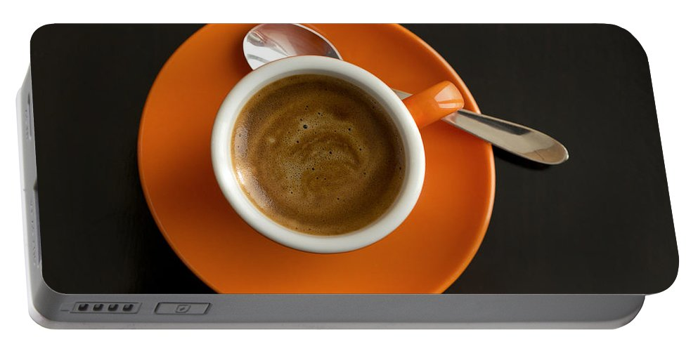 Coffee Portable Battery Charger featuring the photograph Cup Of Coffee by Chevy Fleet