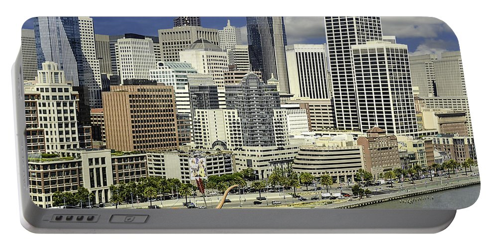 Cupid's Span Portable Battery Charger featuring the photograph Cupid's Span Waterfront San Francisco by LeeAnn McLaneGoetz McLaneGoetzStudioLLCcom