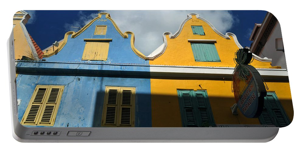 Old Building Portable Battery Charger featuring the photograph Curacao by Jorge Erick Ramos