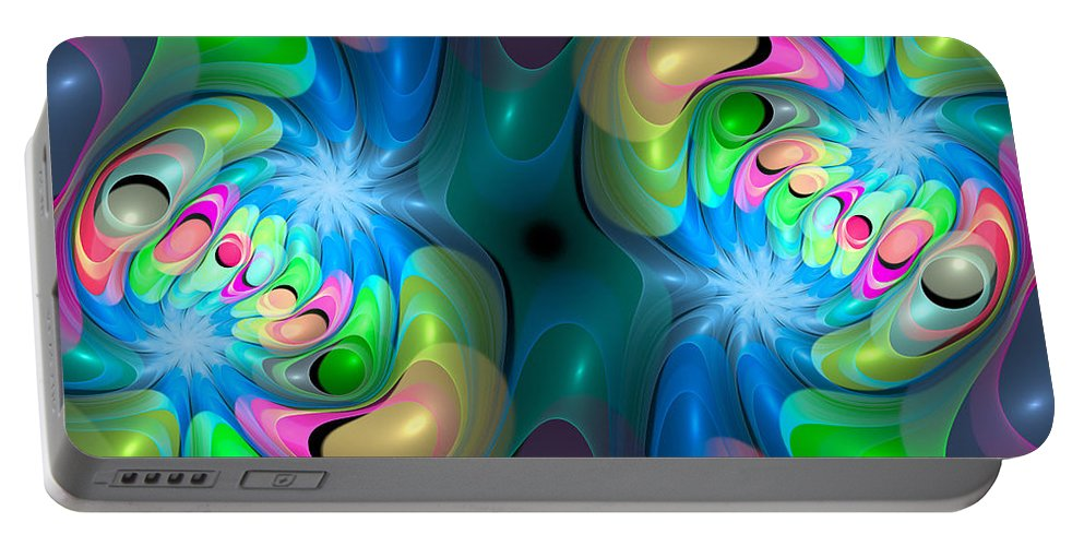 Curve Portable Battery Charger featuring the digital art Curbisme-37 by RochVanh