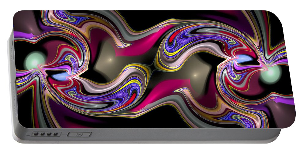 Curve Portable Battery Charger featuring the digital art Curbisme-56 by RochVanh