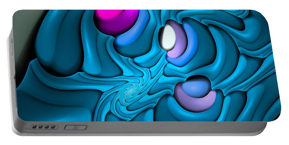 Curve Portable Battery Charger featuring the digital art Curbisme-81-b by RochVanh