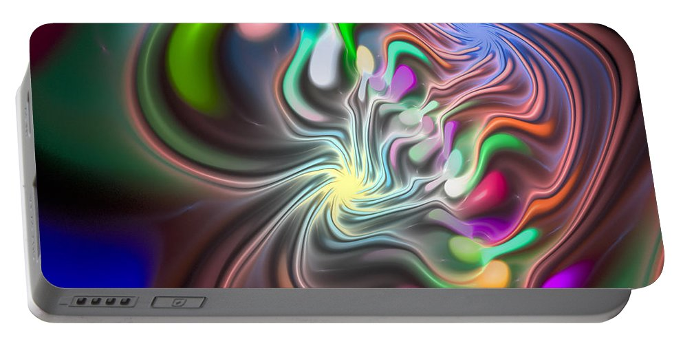 Curve Portable Battery Charger featuring the digital art Curbisme-85 by RochVanh