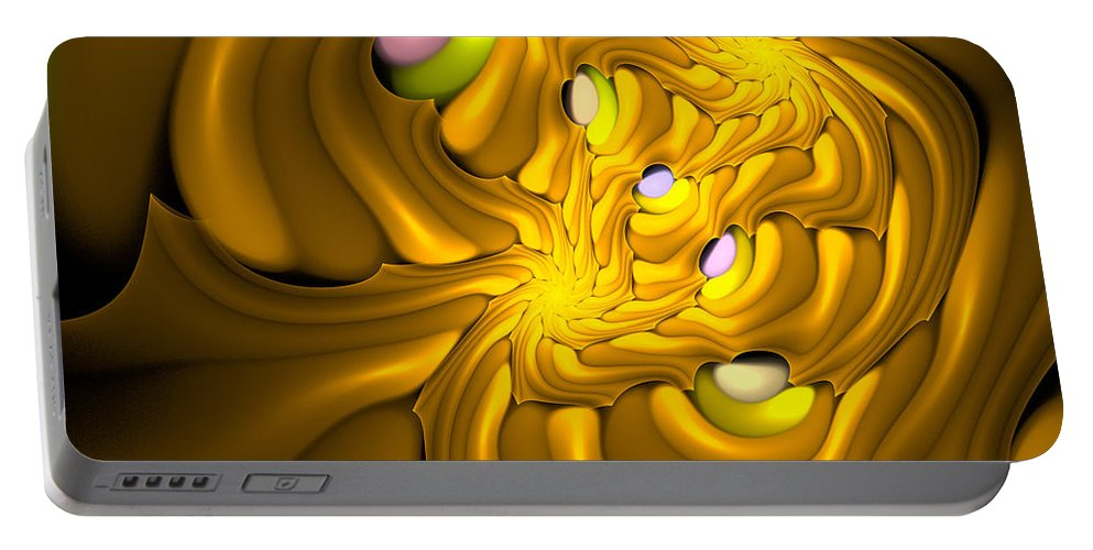 Curve Portable Battery Charger featuring the digital art Curbisme-96 by RochVanh