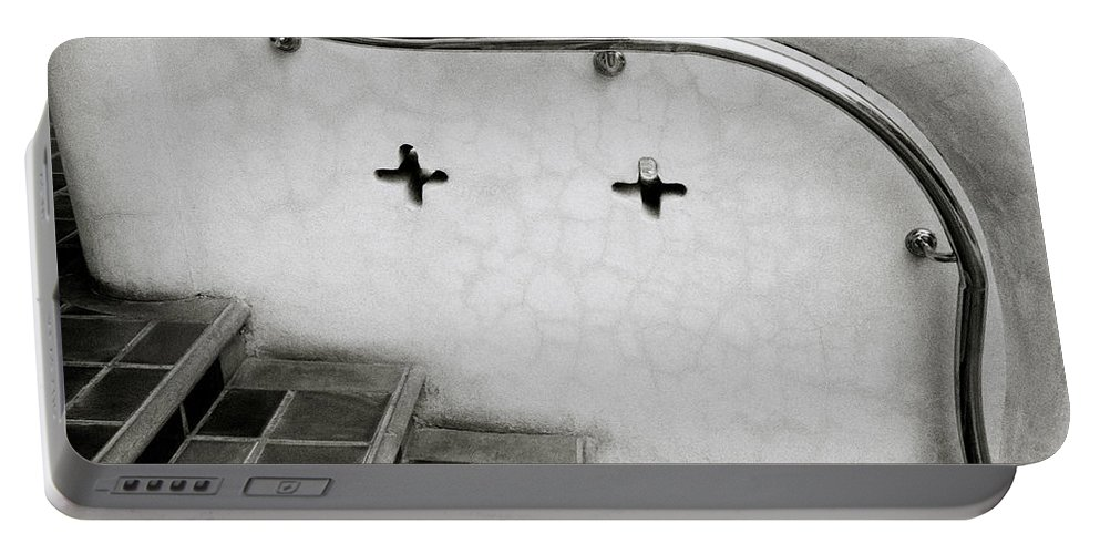 Asia Portable Battery Charger featuring the photograph Curve by Shaun Higson