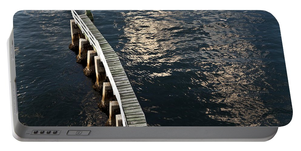 Las Olas Boulevard Drawbridge Portable Battery Charger featuring the photograph Curved Fender Las Olas Drawbridge Fort Lauderdale Florida by David Smith