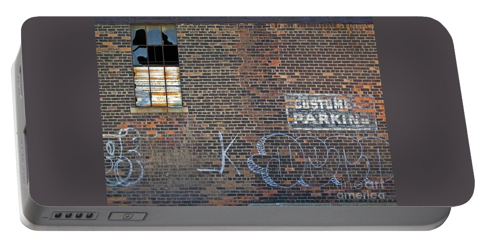 Wall Portable Battery Charger featuring the photograph Customer Parking by Ann Horn