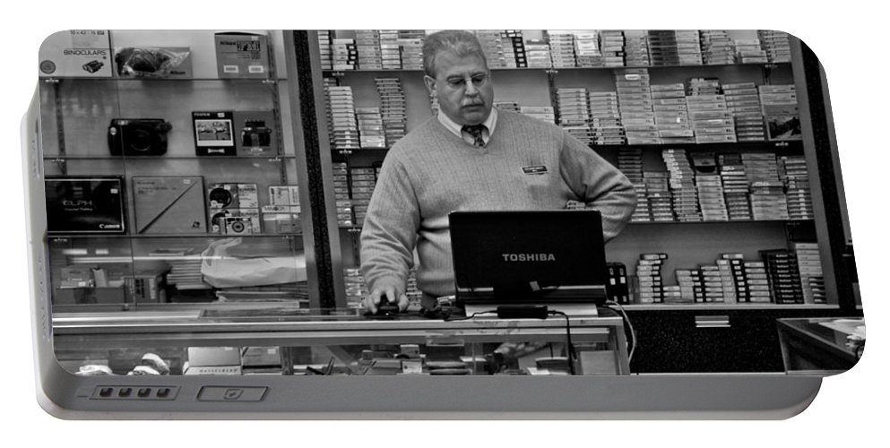Candid Camera Portable Battery Charger featuring the photograph Customer Service by Eric Tressler