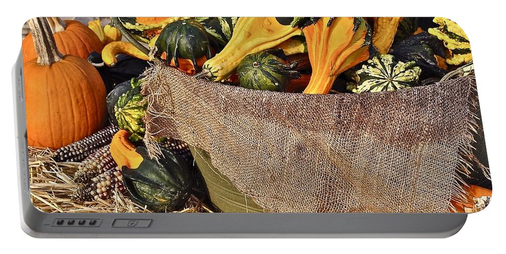 Autumn Portable Battery Charger featuring the photograph Cut In Half by Frozen in Time Fine Art Photography