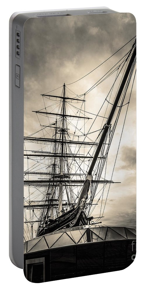 London Portable Battery Charger featuring the photograph Cutty Sark Sepia by Matt Malloy