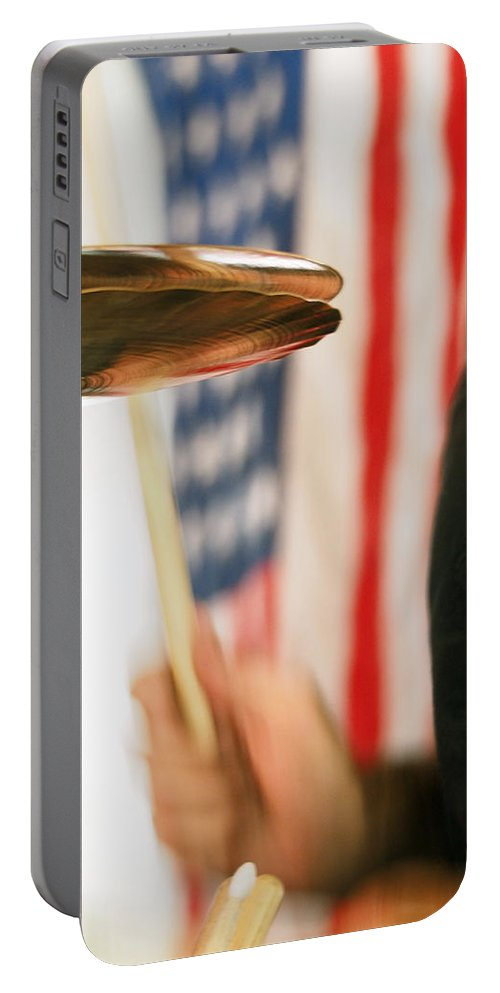 Cymbals Portable Battery Charger featuring the photograph Cymbals by C H Apperson