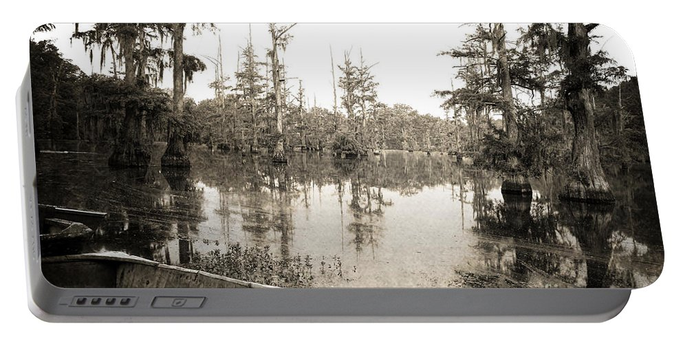Swamp Portable Battery Charger featuring the photograph Cypress Swamp by Scott Pellegrin
