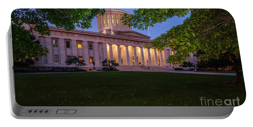 Ohio Portable Battery Charger featuring the photograph D13l94 Ohio Statehouse Photo by Ohio Stock Photography