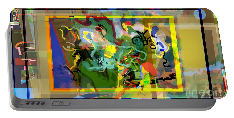 Daas Portable Battery Charger featuring the digital art Daas 2r by David Baruch Wolk