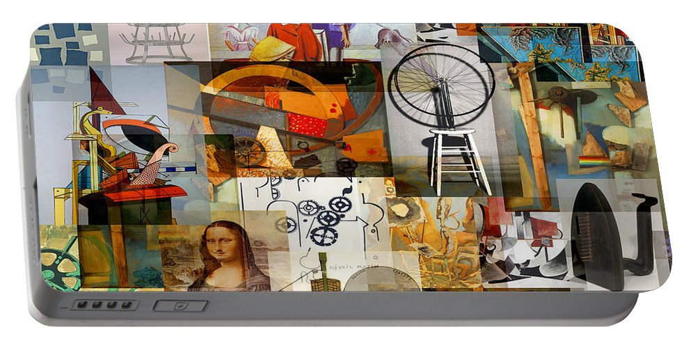 Art Portable Battery Charger featuring the mixed media Dada Movement 1916 To 1922 by Anders Hingel