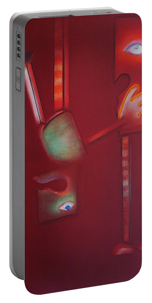 Daedalus Portable Battery Charger featuring the painting Daedalus And Icarus by Charles Stuart