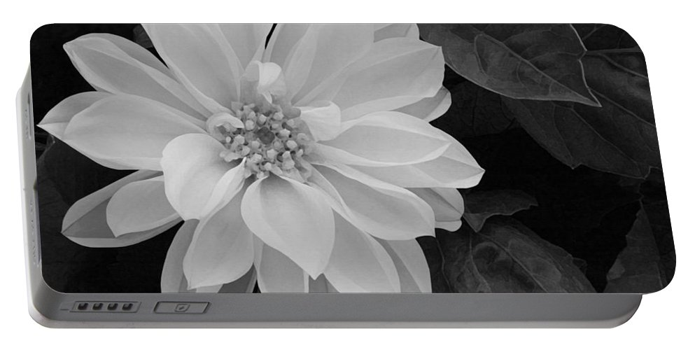 Dahlia Portable Battery Charger featuring the painting Dahlia by Ellen Henneke