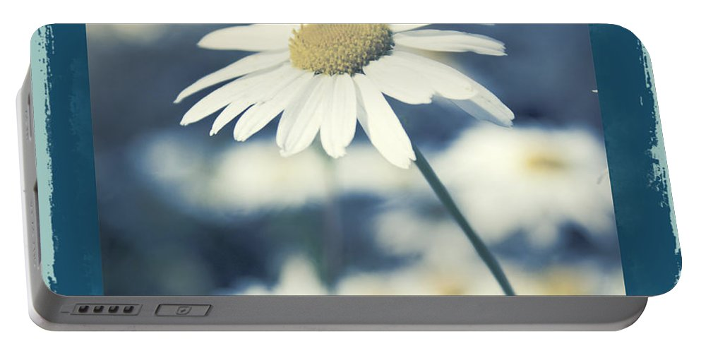 Daisies Portable Battery Charger featuring the photograph Daisies ... Again - 146a by Variance Collections