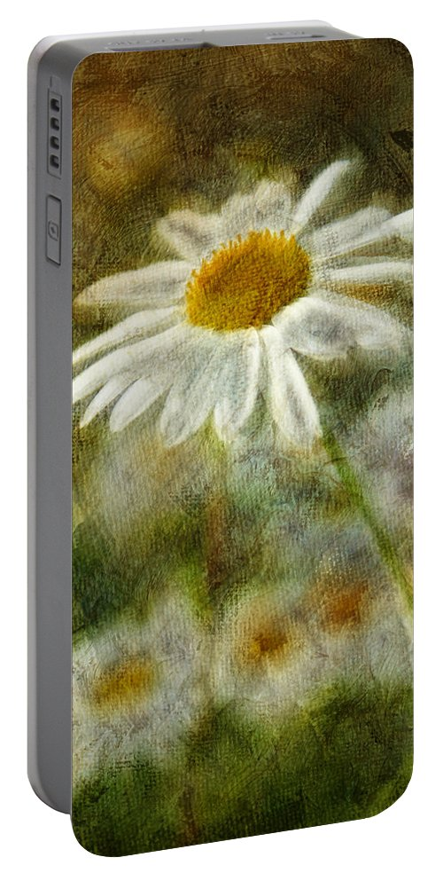 Daisies Portable Battery Charger featuring the photograph Daisies ... Again - P11at01 by Variance Collections
