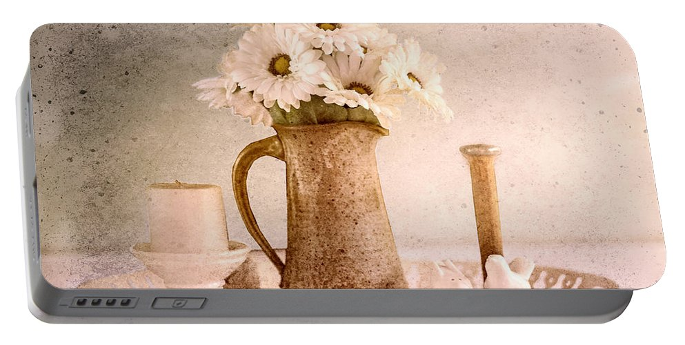 Still Life Portable Battery Charger featuring the photograph Daisies by Betty LaRue