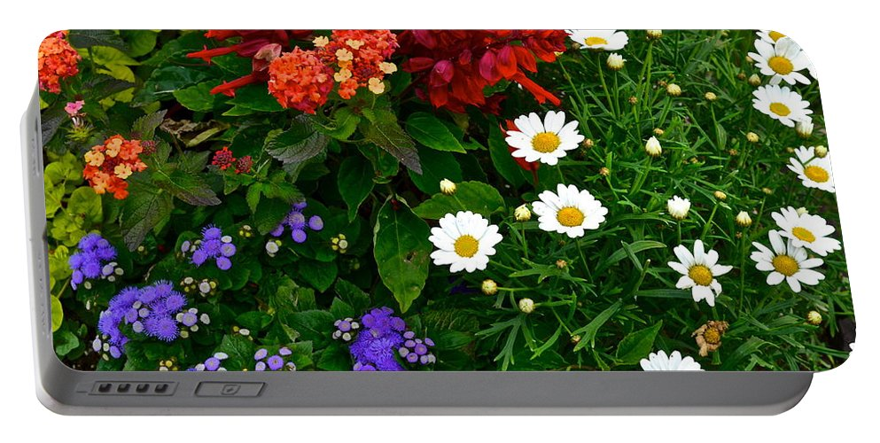 Daisy Portable Battery Charger featuring the photograph Daisy Field by Frozen in Time Fine Art Photography