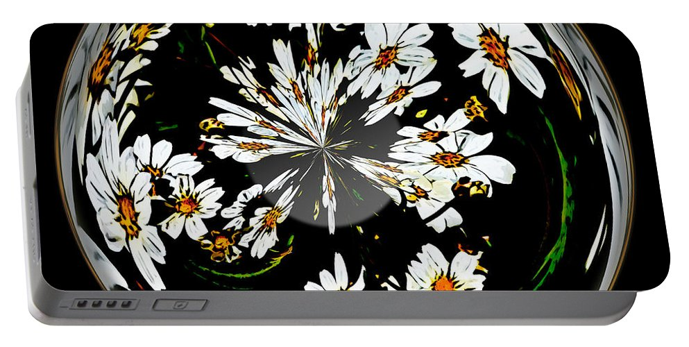 Sphere Portable Battery Charger featuring the photograph Daisy Sphere by Phyllis Denton