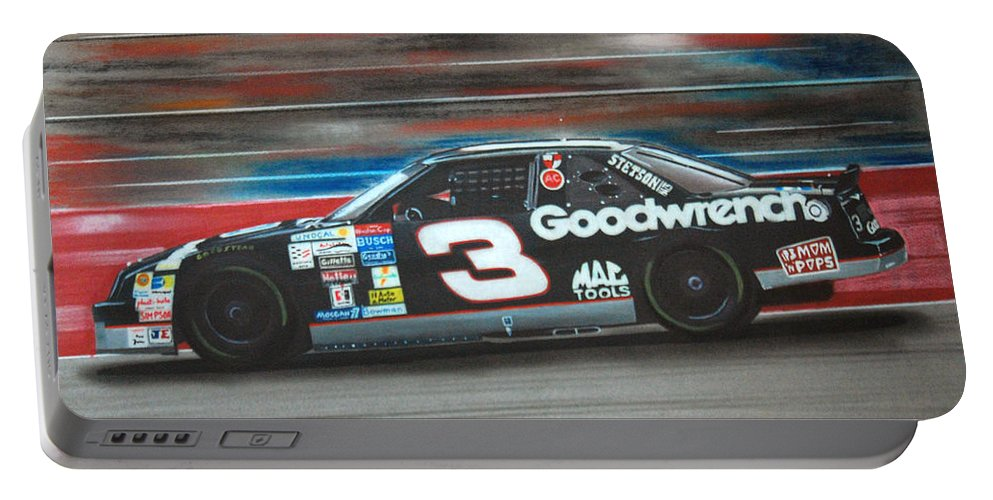 Car Portable Battery Charger featuring the drawing Dale Earnhardt Goodwrench Chevrolet by Paul Kuras